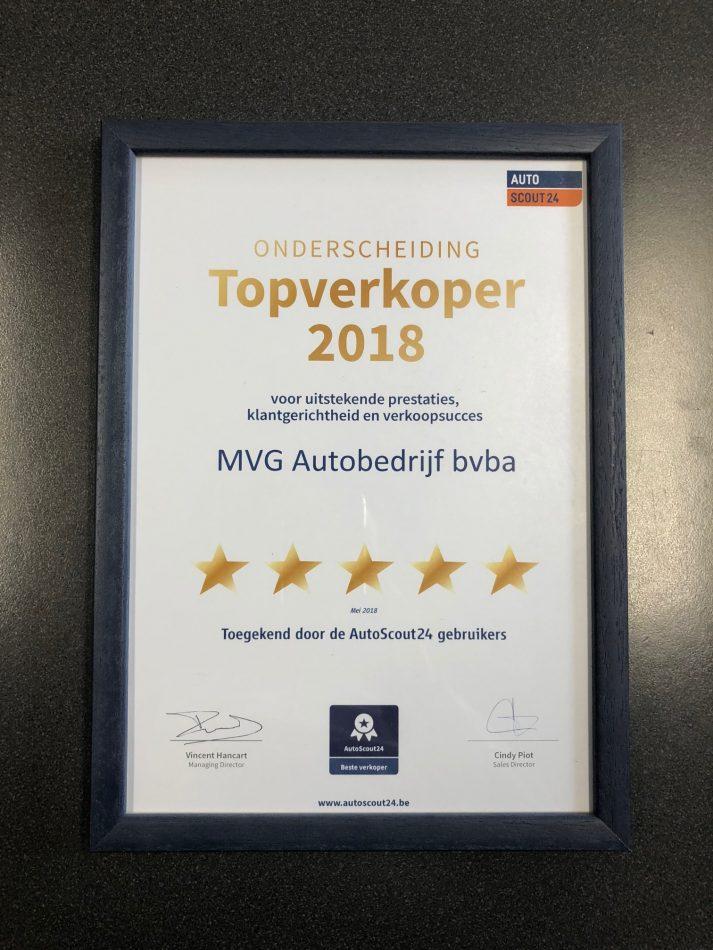 Onderscheiding Topverkoper 2018